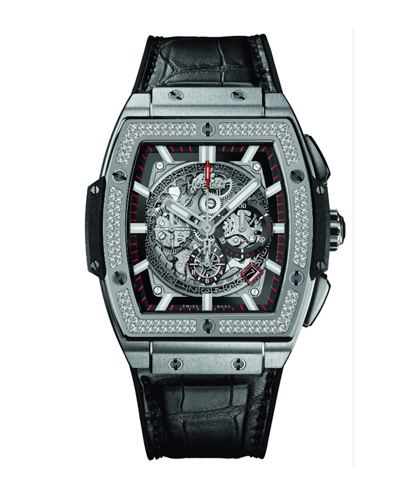 black leather strap copy barrel Hublot Big Bang