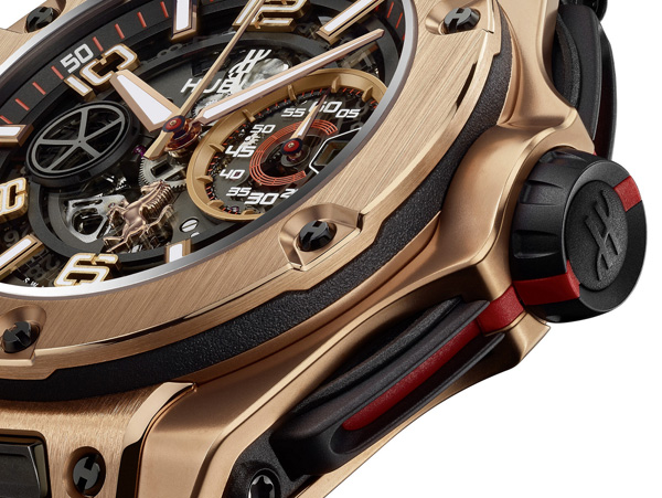 black crown copy Hublot Big Bang Ferrar