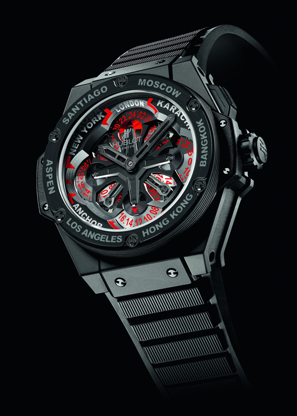 black rubber strap fake Hublot Unico