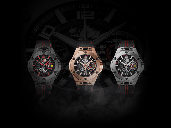 black strap fake Hublot Big Bang Ferrar