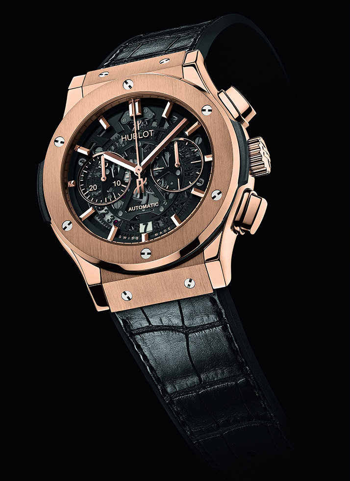 red gold case copy Hublot Aero Bang