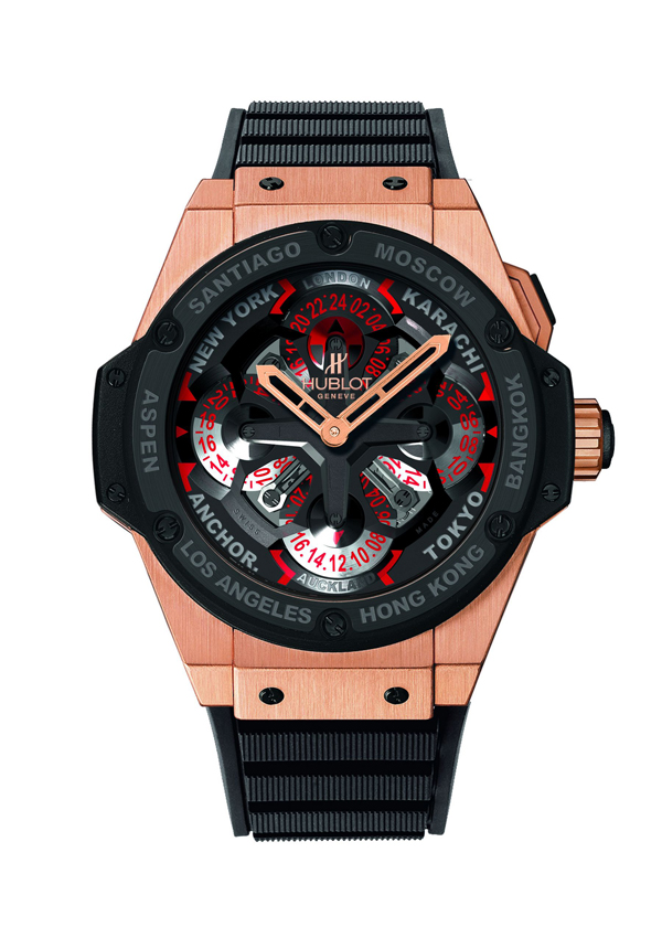 red gold case copy Hublot Unico