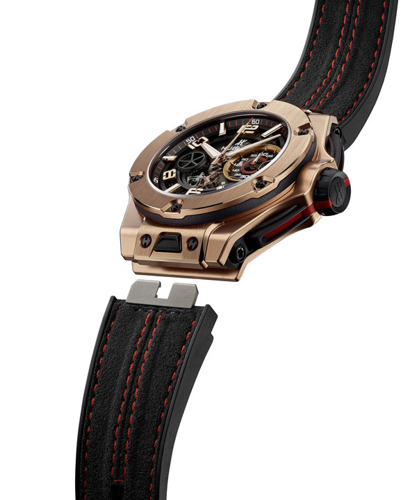 red gold case replica Hublot Big Bang Ferrar