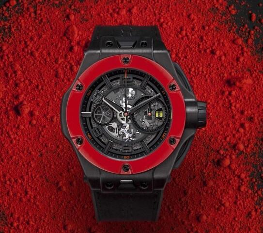 The integrated design of this Hublot is passionate, dynamic and strong.
