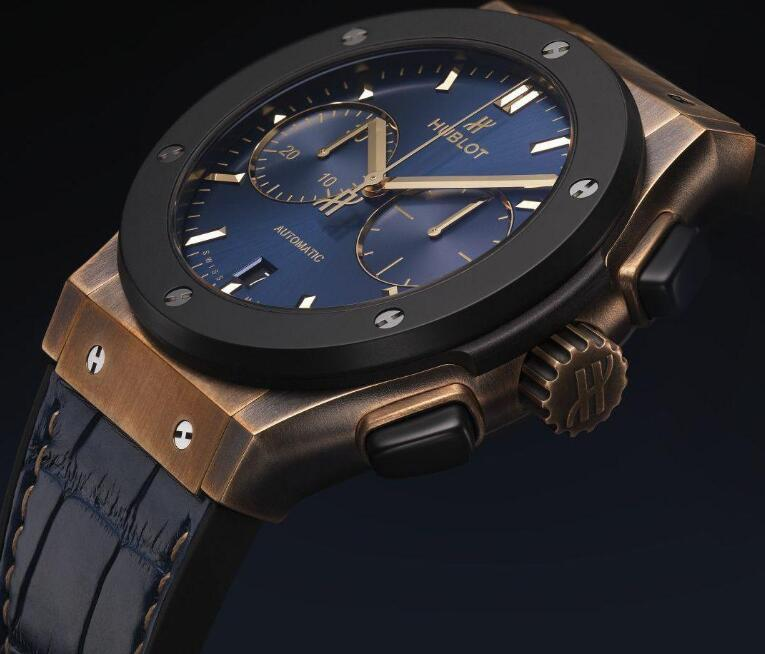 The blue dial is the symbolic color of Bucherer.